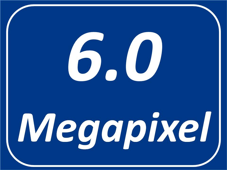 6.0 Megapixel