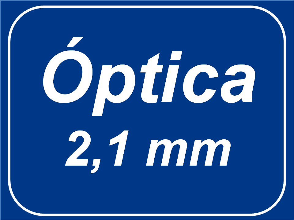 Óptica fija 2,1 mm