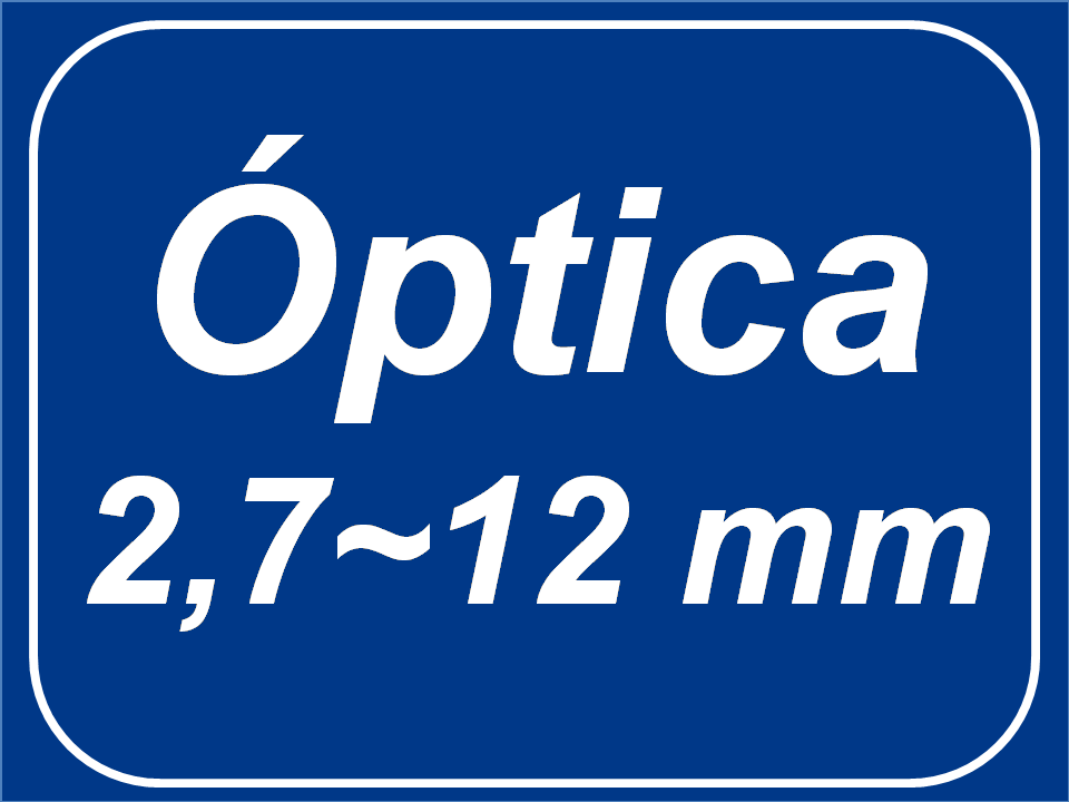 Óptica Varifocal (2,7 - 12) mm