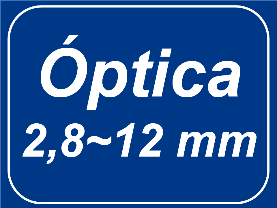 Óptica Varifocal  (2,8 - 12mm)