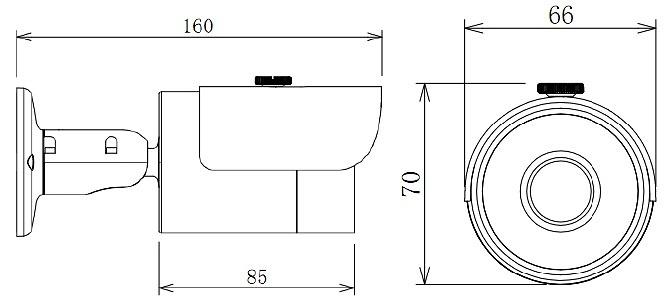Cámara compacta IP DAHUA - resolución 4 Megapixel - Lente fija - Visión nocturna 30 metros