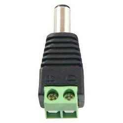 Conector DC hembra con salida +/- de 2 terminales - 1 unidad