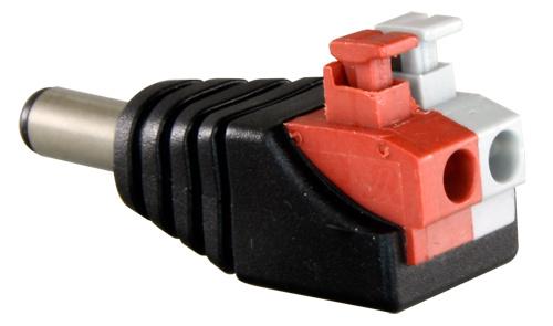 Conector alimentación para cámara de vigilancia