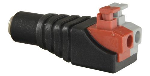 Conector alimentación para cámara de seguridad