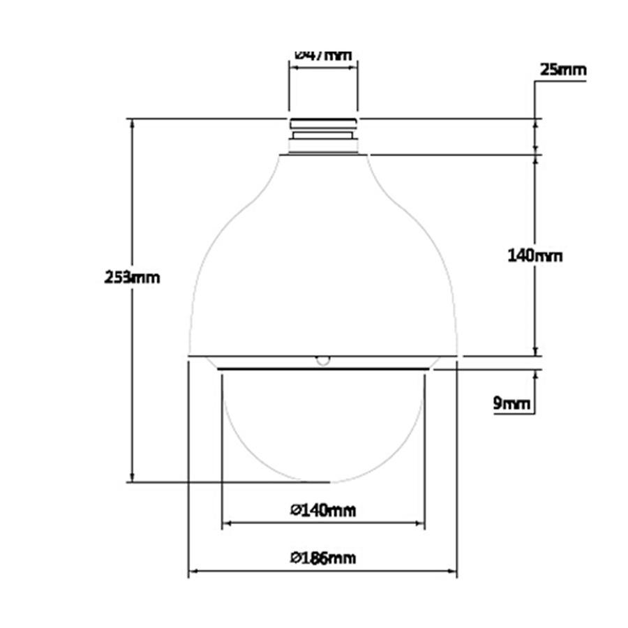 Domo motorizado IP StarLight DAHUA - 2 Megapixel - Zoom óptico 25x
