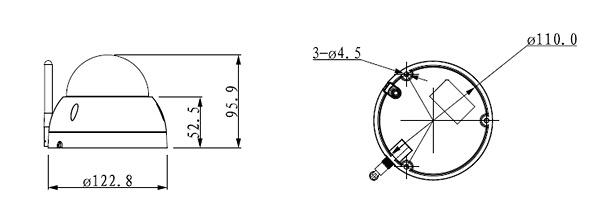 Domo motorizado IP X-Security - 4 Megapixel - Zoom Óptico 4x - Zoom Digital 16x