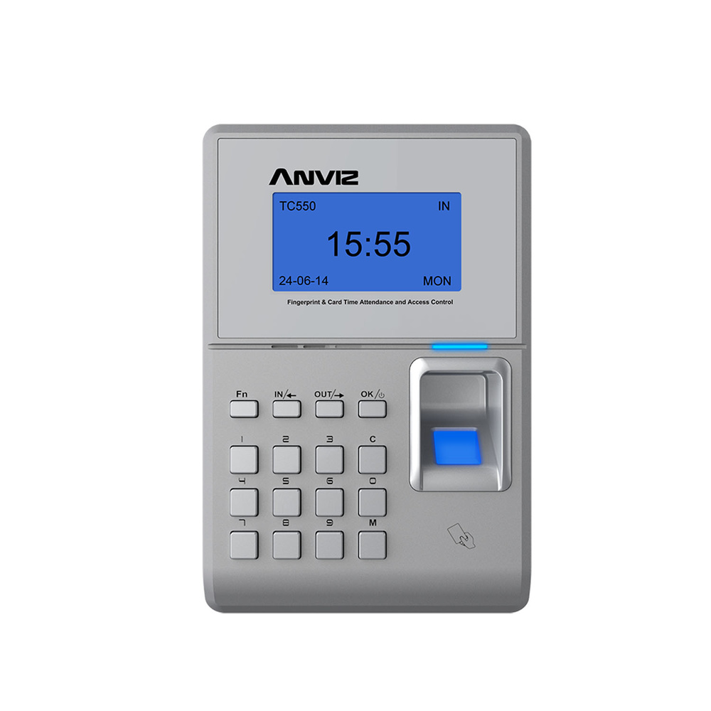 Lector Biométrico para Control de Presencia y Control de Accesos - ANVIZ