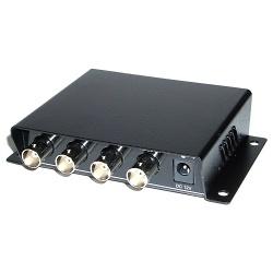 Vídeo Transceiver: 4xBNC+DATA+DC a 4xRJ45 (Balun 4-Port) [TTP444VPD]