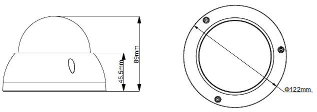 XS-DM844SZAW-Q4N1   X-SECURITY - Cámara 4 en 1 StarLight - 1080P - Óptica motorizada - Leds IR 30 metros