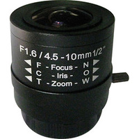 "Óptica varifocal con correcion IR - 1/2"" iris manual -  4,5~10 mm"