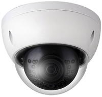 Cámara IP  Domo Serie Eco-IP   -  Resolución 3 Megapixel  -  Óptica fija Gran Angular  -  Leds infrarrojos 30 metros