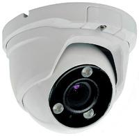 Cámara domo 4 en 1 (HDCVI / HDTVI / AHD / CVBS)  -  Resolución 5 Megapixel  -  Lente motorizada  -  Leds infrarrojos 40 metros