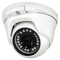 Cámara domo  4N1 (HDCVI, HDTVI, AHD, CVBS) - Resolucio 1080P  -  Óptica fija  -  Leds infrarrojos 20 metros