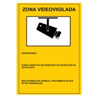 Placa de plástico - Zona Videovigilancia (Homologada)