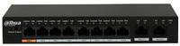 Swicht PoE Dahua  -  8 puertos PoE RJ45 10/100 Mbps + 2 puertos Uplink 1000 Mbps
